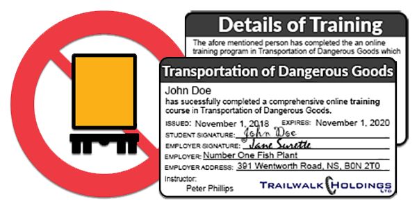 Transportation of Dangerous Goods - MyLMS - Learning Management Systems
